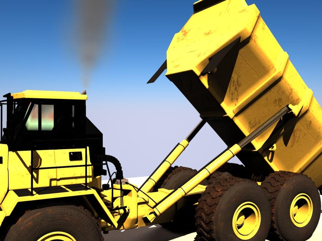 3d model of articulated dump truck
