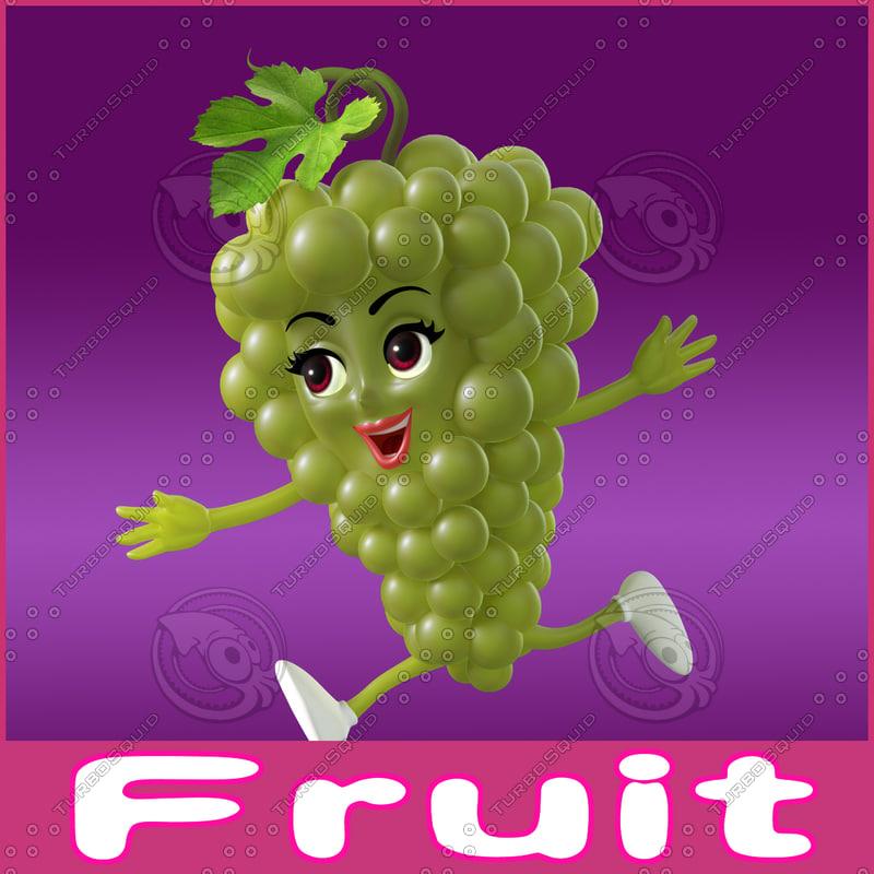 3d cartoon fruits