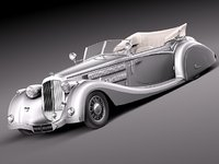 c4d horch 853a antique luxury
