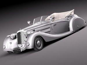 c4d horch 853a antique luxury