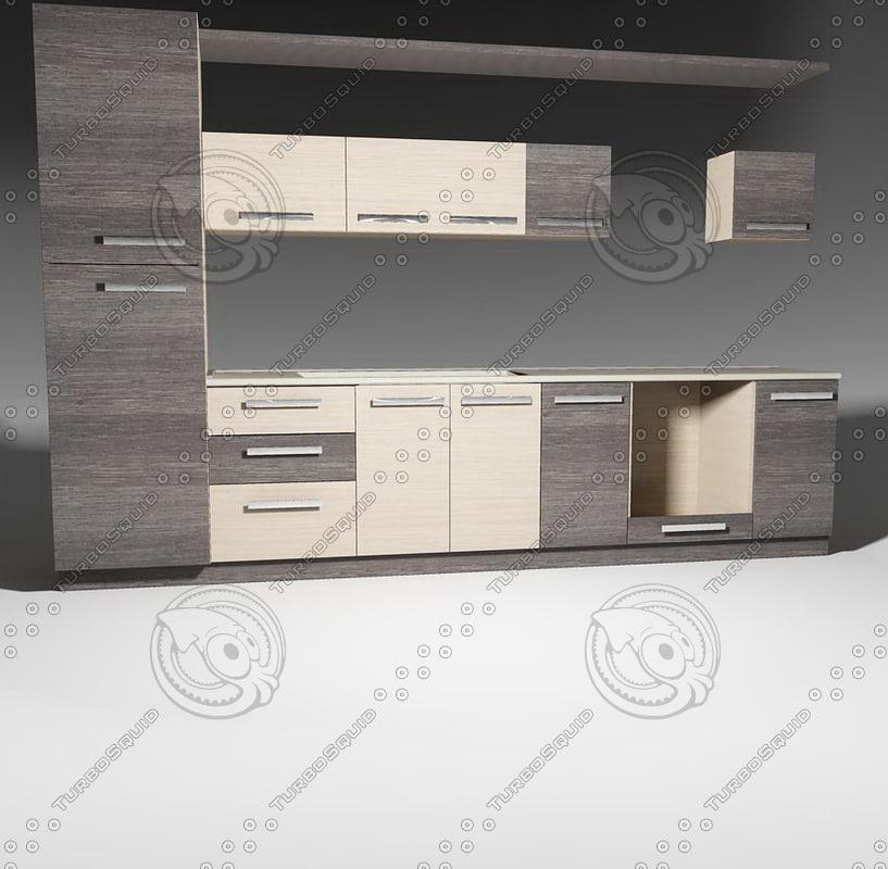 model kitchen furnitures pack 1