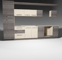 kitchen furnitures pack 1 model 03 without accessories