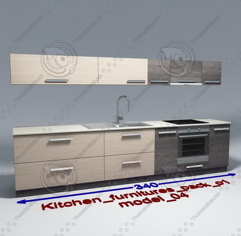 kitchen furnitures 04 3d model