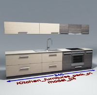 Kitchen furnitures with accesories model 04