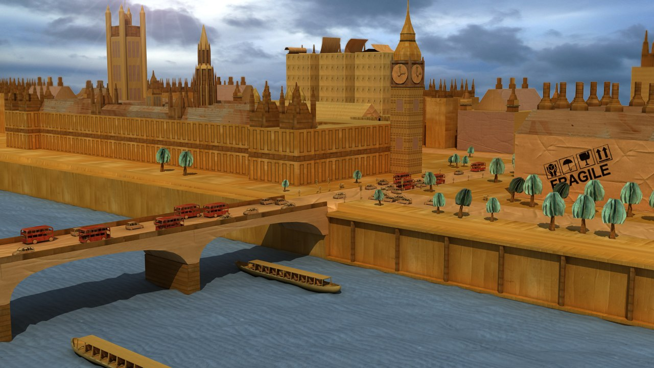 3d model cardboard westminster palace