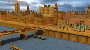 3d model cardboard westminster palace