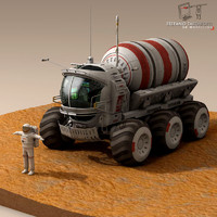 Lunar vehicle tanker