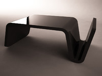3d model glossy plastic black table