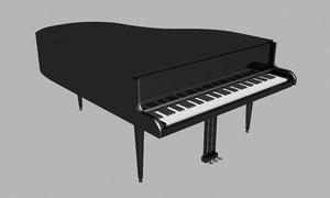 3ds max grand piano