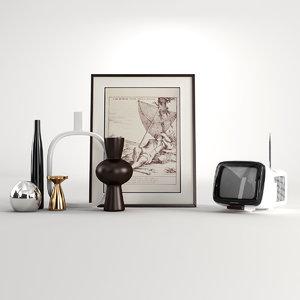 3d max accessories living room
