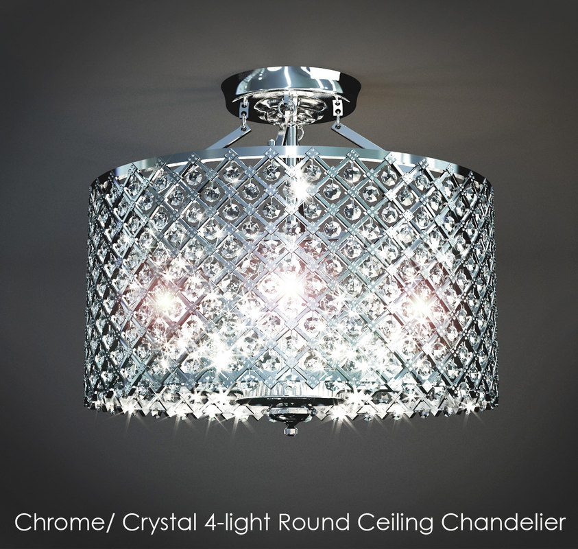 chromecrystal 4-light ceiling max