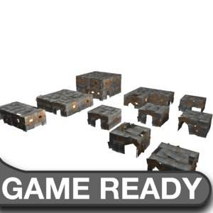 3d slum building pack
