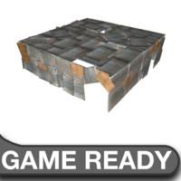 3ds max slum square shack