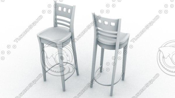 bar chair stool tall 3d ma