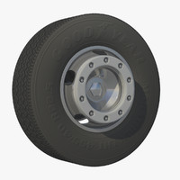 wheel heavy truck rim 3d model
