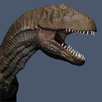 dino dinosaur allosaurus 3d model