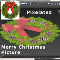 pixelated merry christmas max