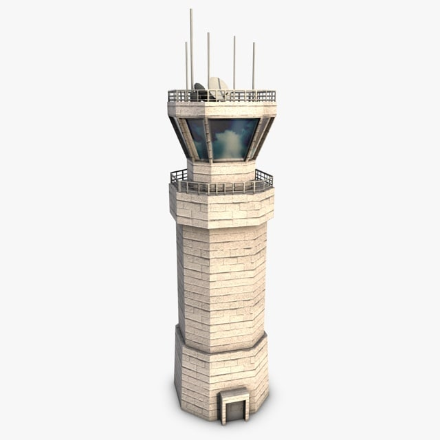 3d control tower