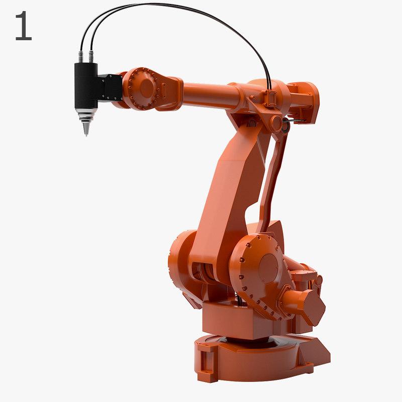 4 industrial robots set max