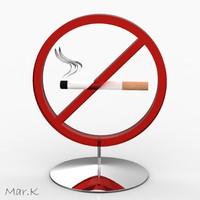 3d model smoking symbol