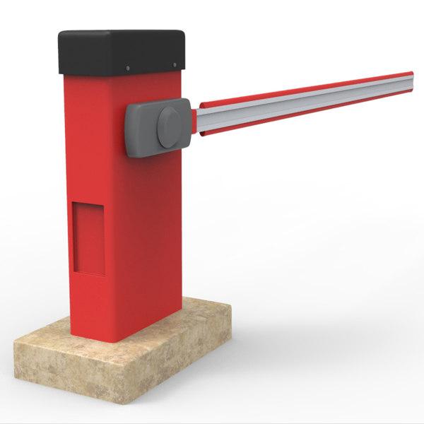 3d model automatic barrier