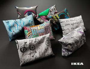 pillows ikea 3d max