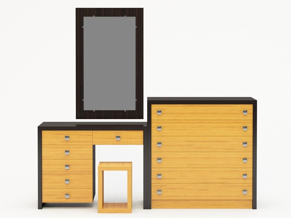 3d model dressing table dresser