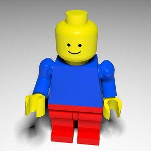 3d 3ds lego man