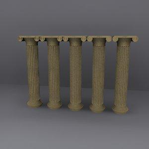 3d roman column