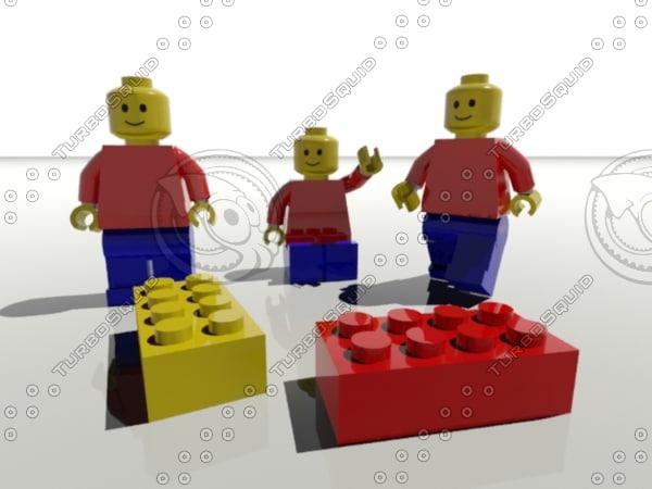 lego doll 3d model
