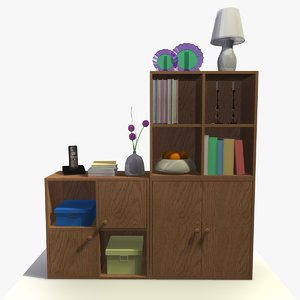 3d model of cabinet decor