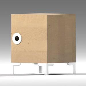 ikea engan bedside cabinet 3d 3ds