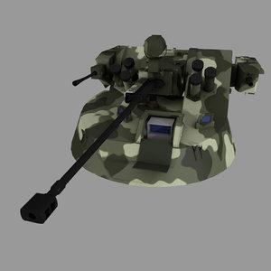12 mb2 turret apc 3d model