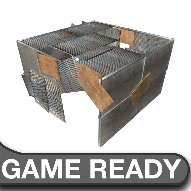 slum shack 3d model