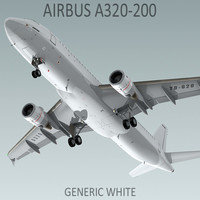 Airbus A320-200 Generic White