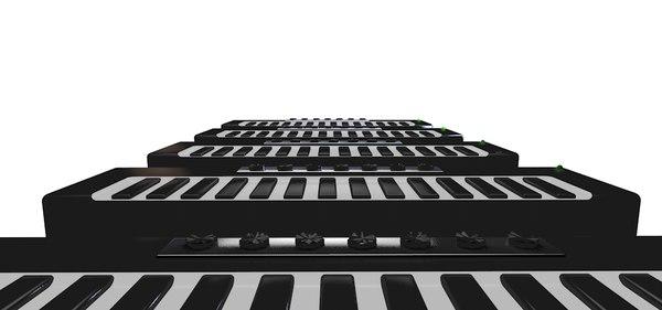 3d stylized keyboard