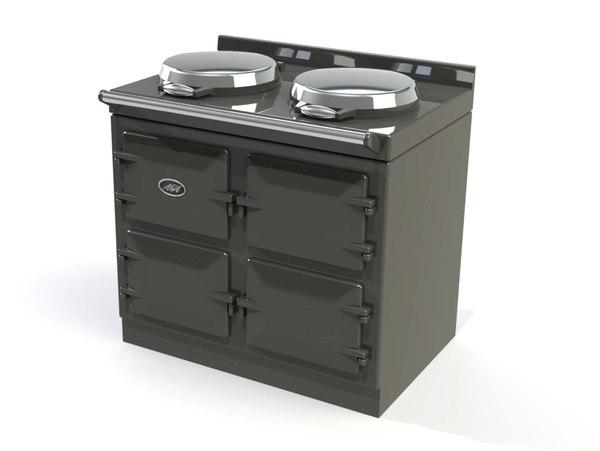 aga range cooker 3d model