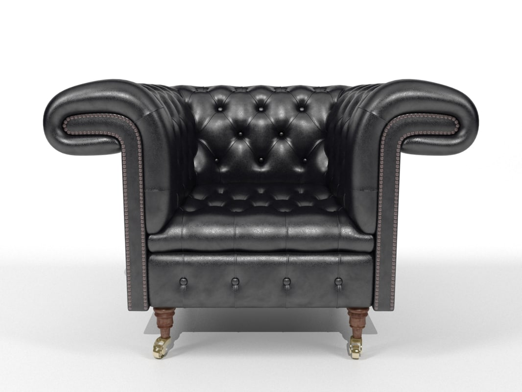 chair armchair chesterfield 3d model