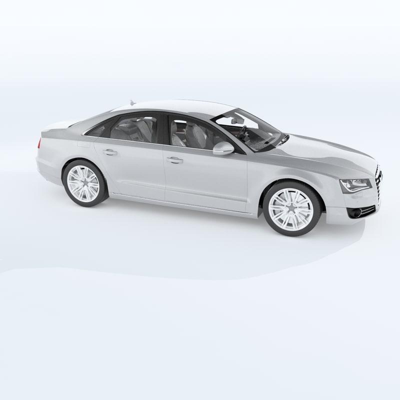Audi A8 2011 3d Obj