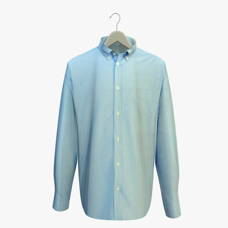 blue shirt hanger 3d 3ds