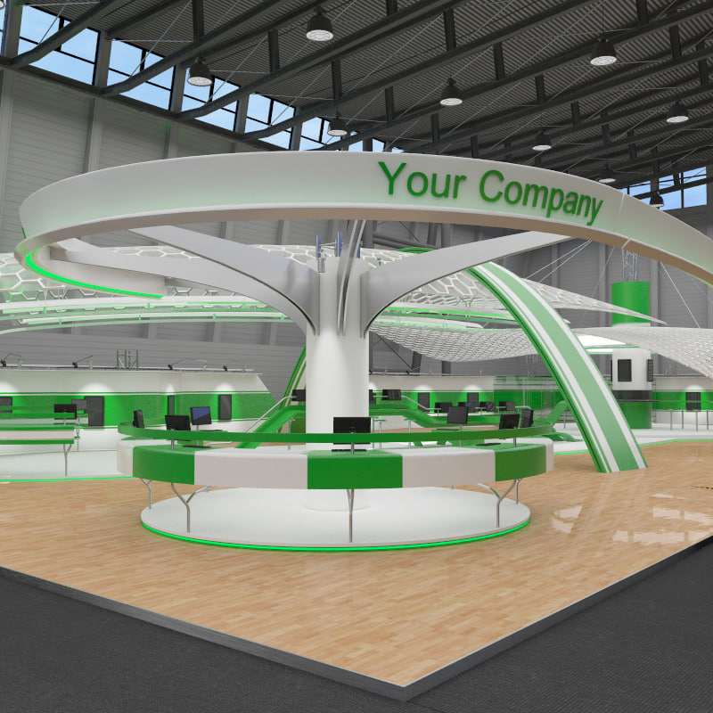 Exhibition Hall Booth : Booth exhibition hall 3d model