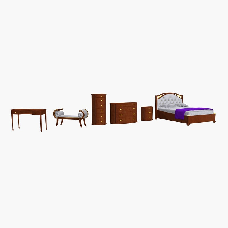 camelgroup bedroom night table 3d model