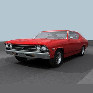 3d chevelle 1969 ss model