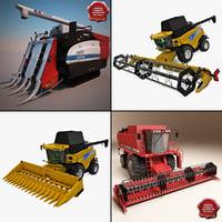 3dsmax combines tractors t