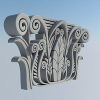 relief corinthian capital 3d model