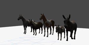 horse pack 3d model