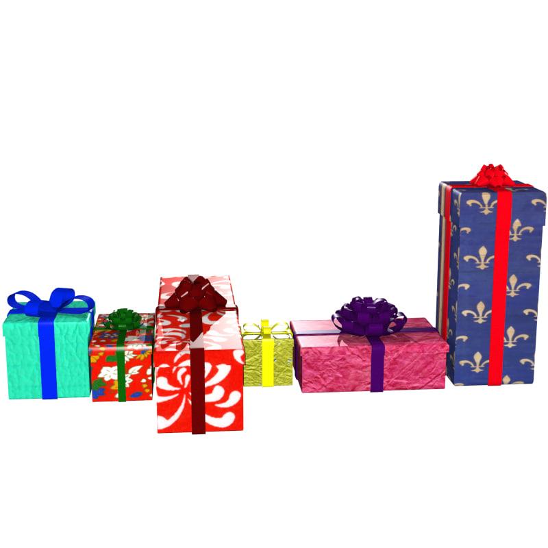 3d obj gift box
