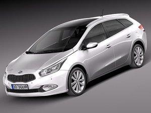 kia ceed 2013 sw 3d model