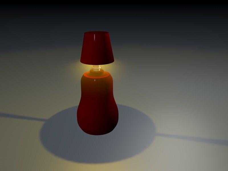 60 s lamp 3d c4d