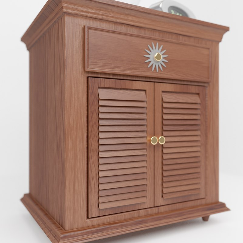 3ds wooden cabinet